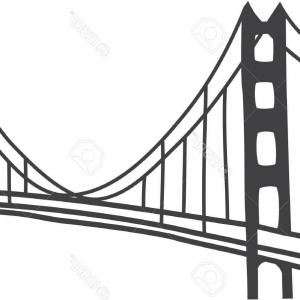 300x300 Photostock Vector Illustration Of Golden Gate Bridge San Francisco