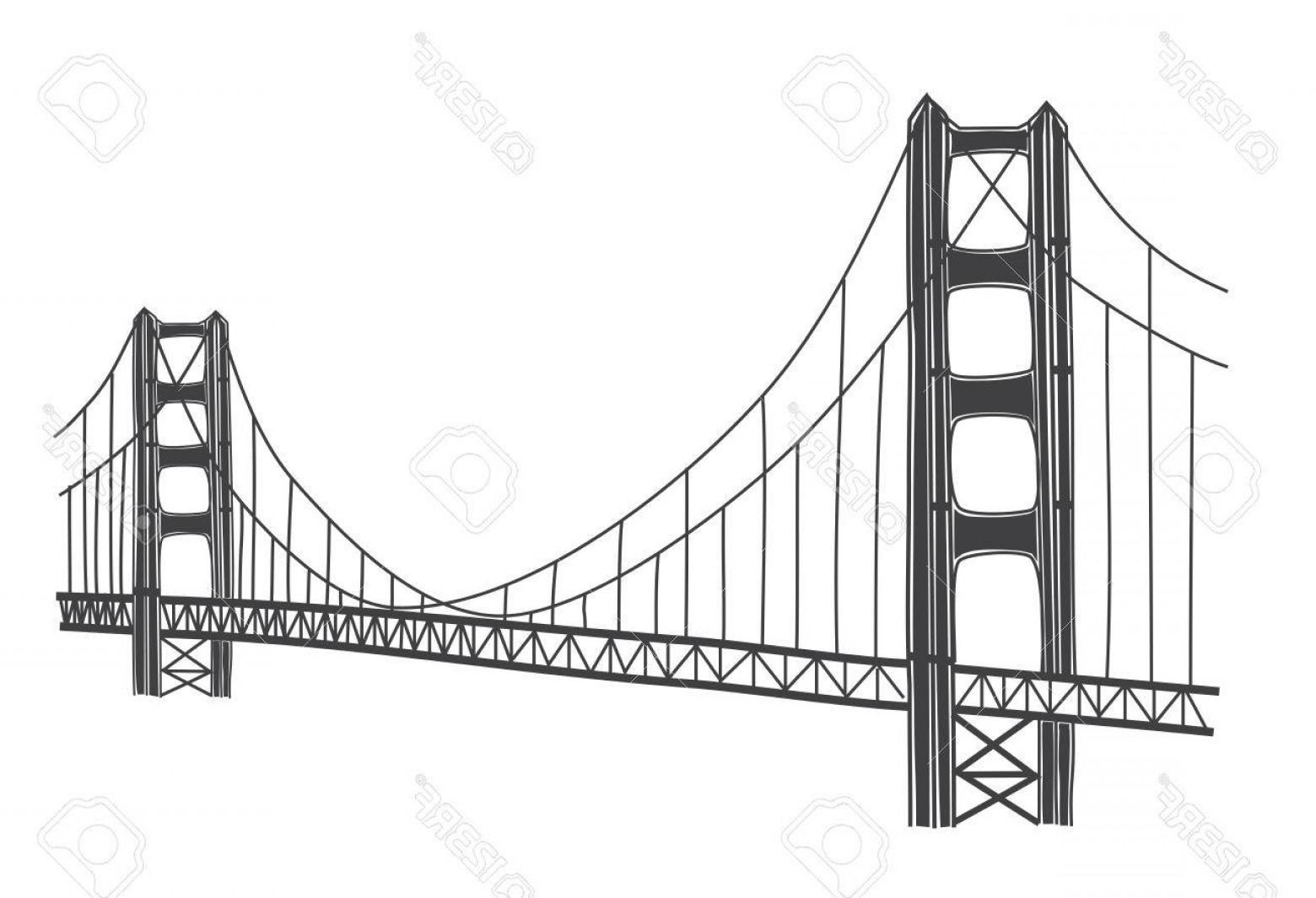 1560x1065 Photostock Vector Vector Illustration Of Golden Gate Bridge San
