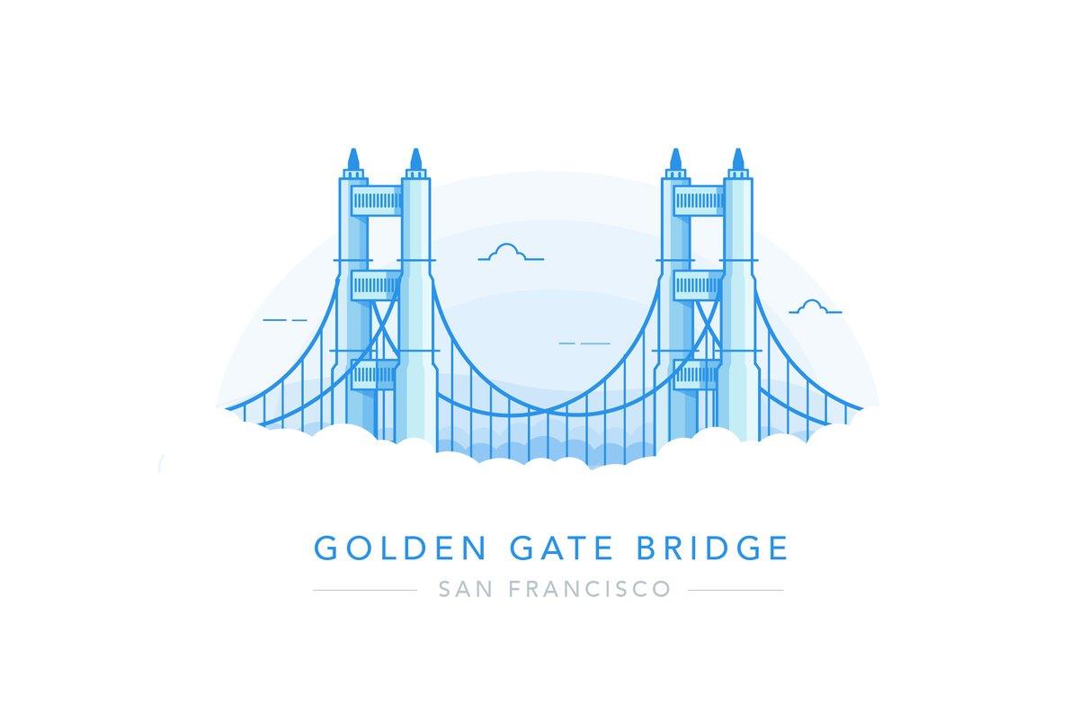 1200x803 Al Power Illustrates On Twitter Golden Gate Bridge, San