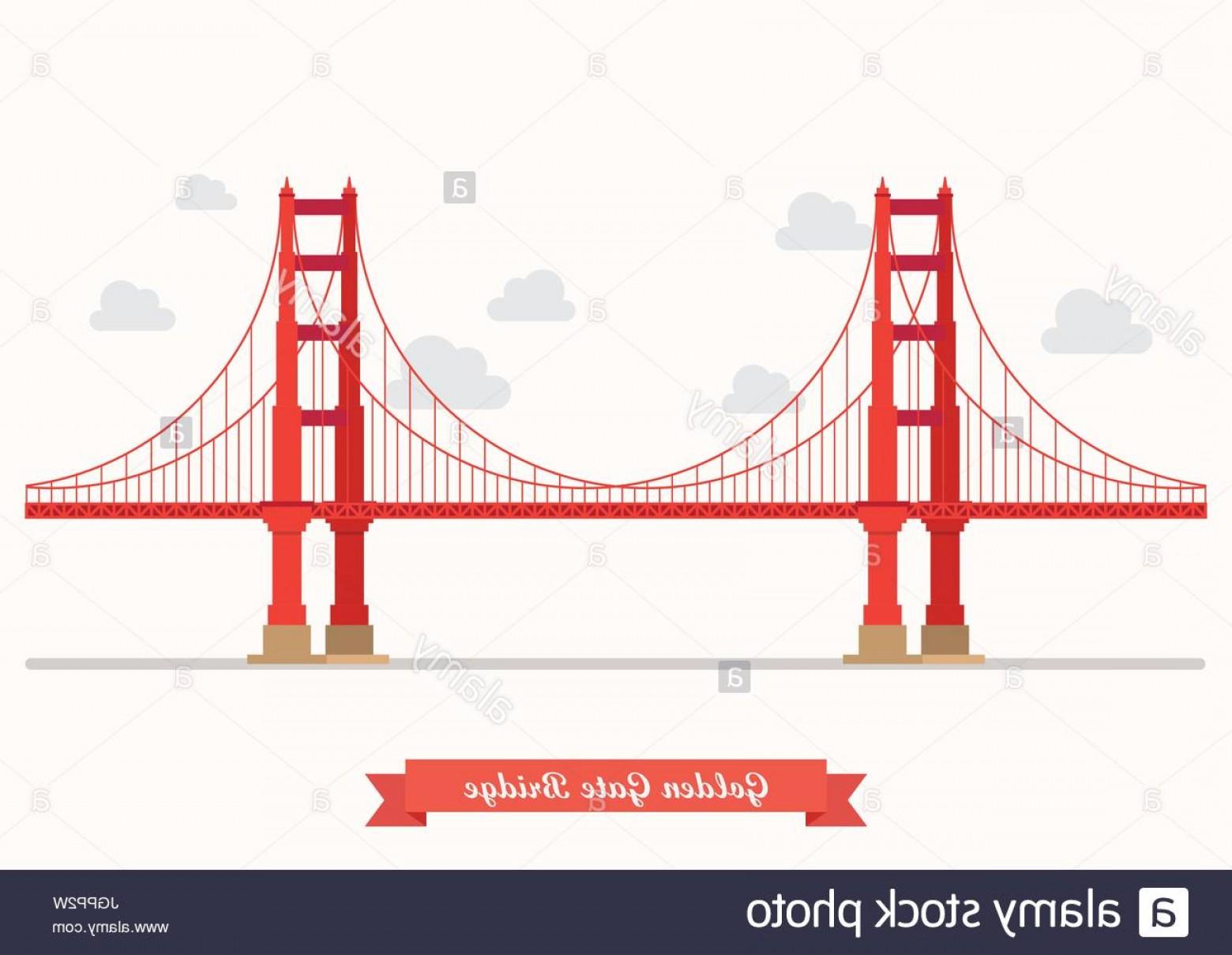 1560x1210 Stock Photo Golden Gate Bridge Illustration Flat Style Design