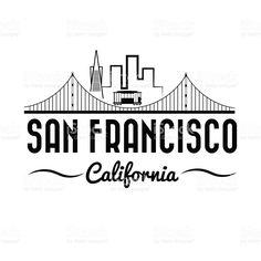 236x236 San Francisco Golden Gate Bridge Vector Art