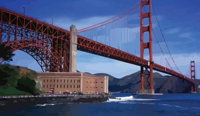 680x395 Golden Gate Bridge Vector Vectorish