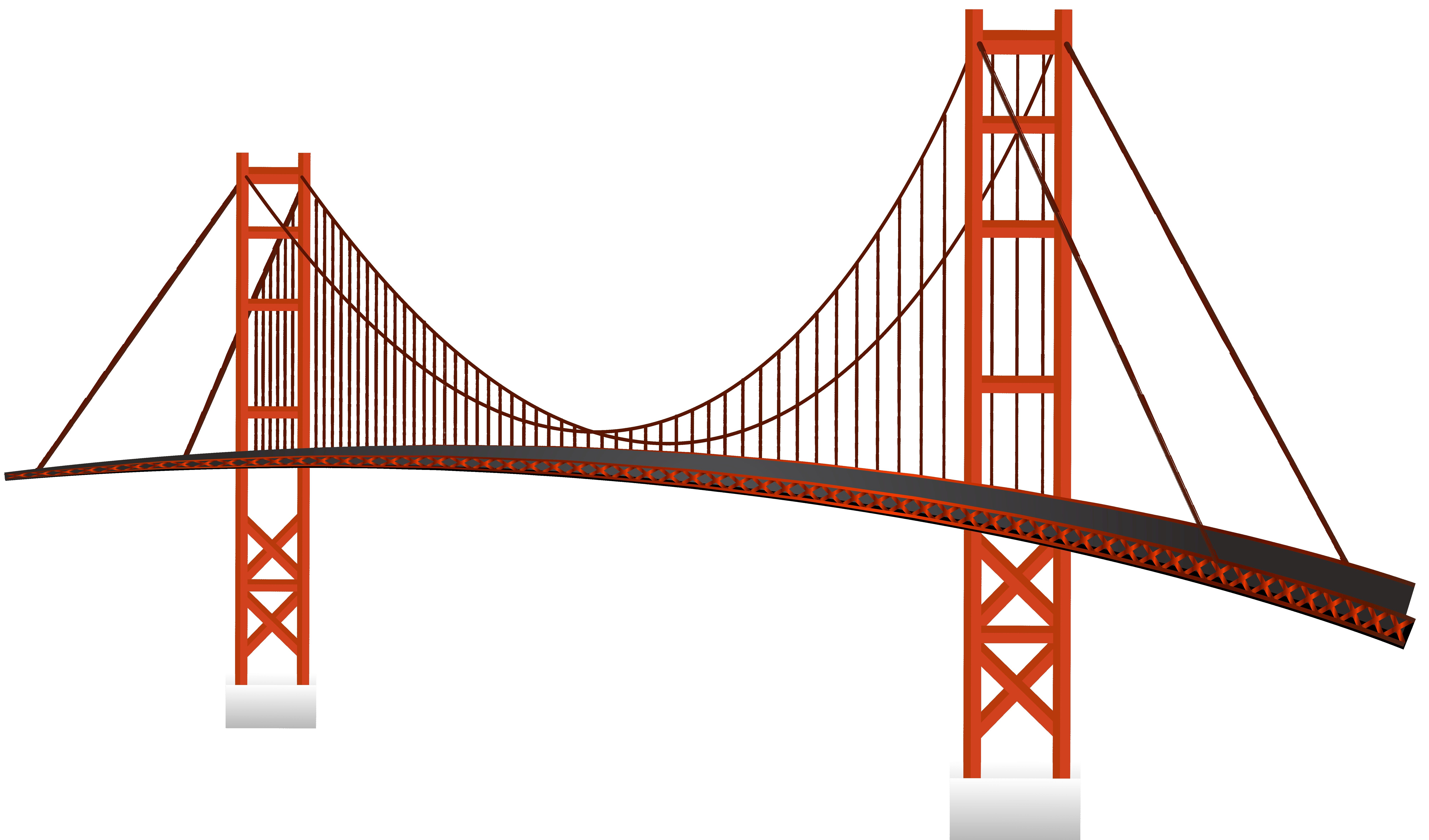 8000x4705 Golden Gate Bridge Vector Image Picturesque Clipart 17