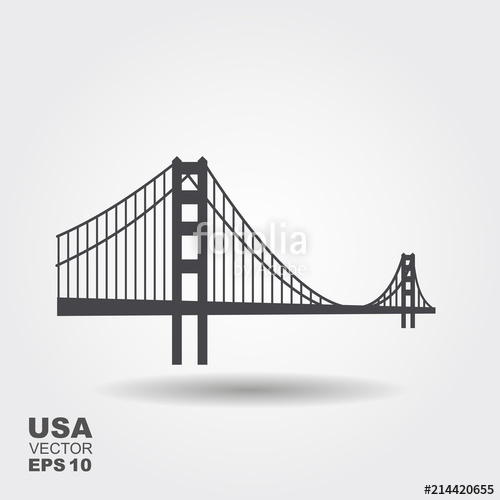 500x500 Golden Gate Bridge Icon Stock Image And Royalty Free Vector Files