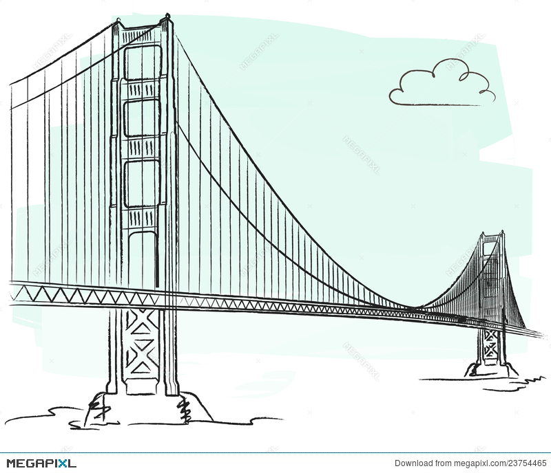 800x688 Golden Gate Vector Illustration 23754465