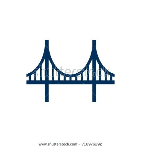 450x470 Bridge Element Isolated Golden Gate Icon Symbol On Clean