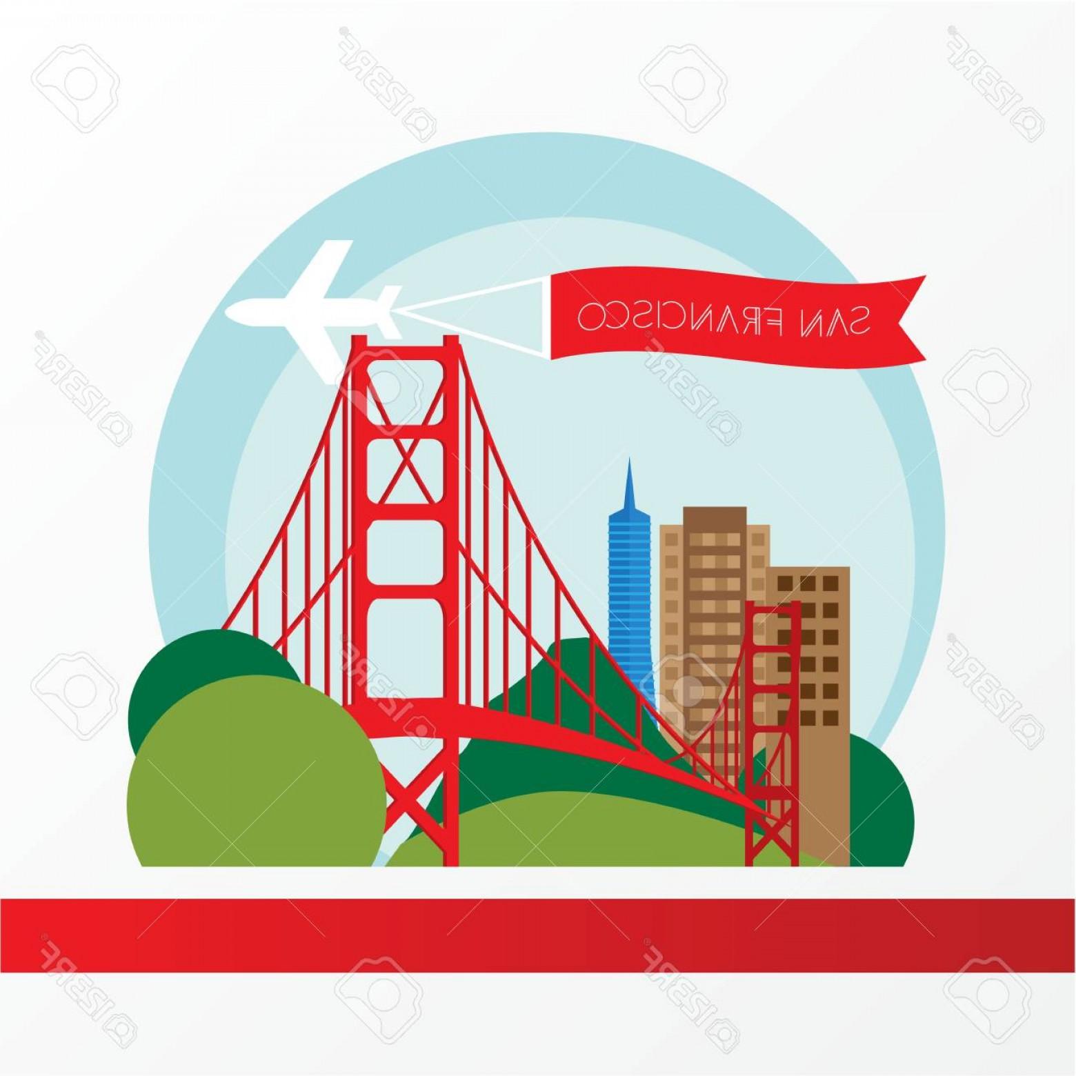 1560x1560 Photostock Vector Golden Gate Bridge The Symbol Of Us San