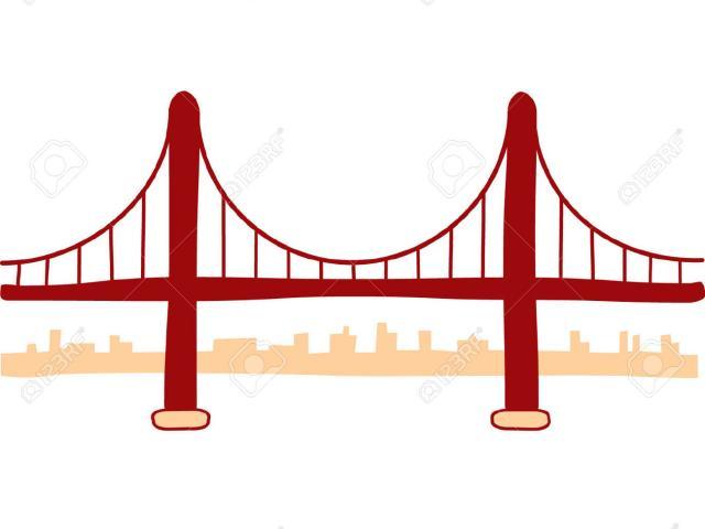 640x480 Vector Clipart Golden Gate Bridge 2
