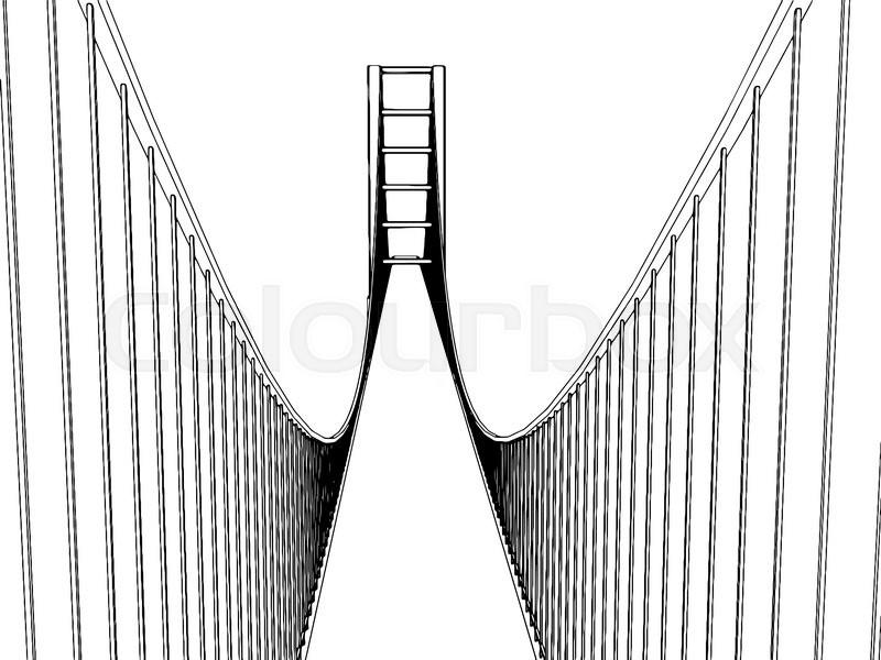 800x600 Vector Golden Gate Bridge