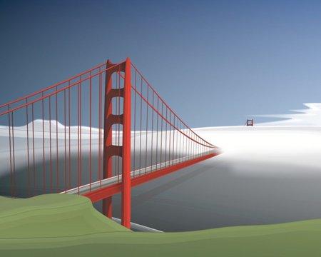 450x360 Golden Gate Vector Bridge