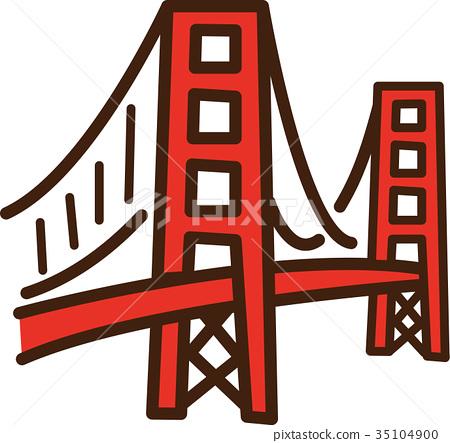 450x443 Vector, Vectors, Golden Gate Bridge