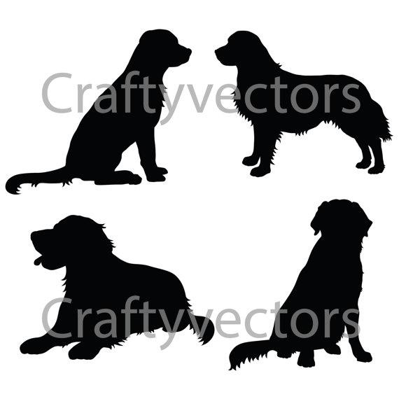 570x570 Golden Retriever Silhouettes Vector File Diy Amp Crafts