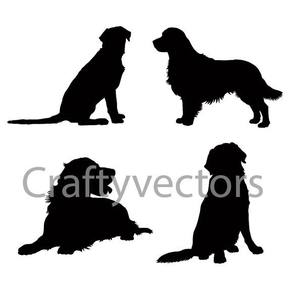 570x570 Golden Retriever Silhouettes Vector File Things For My Wall