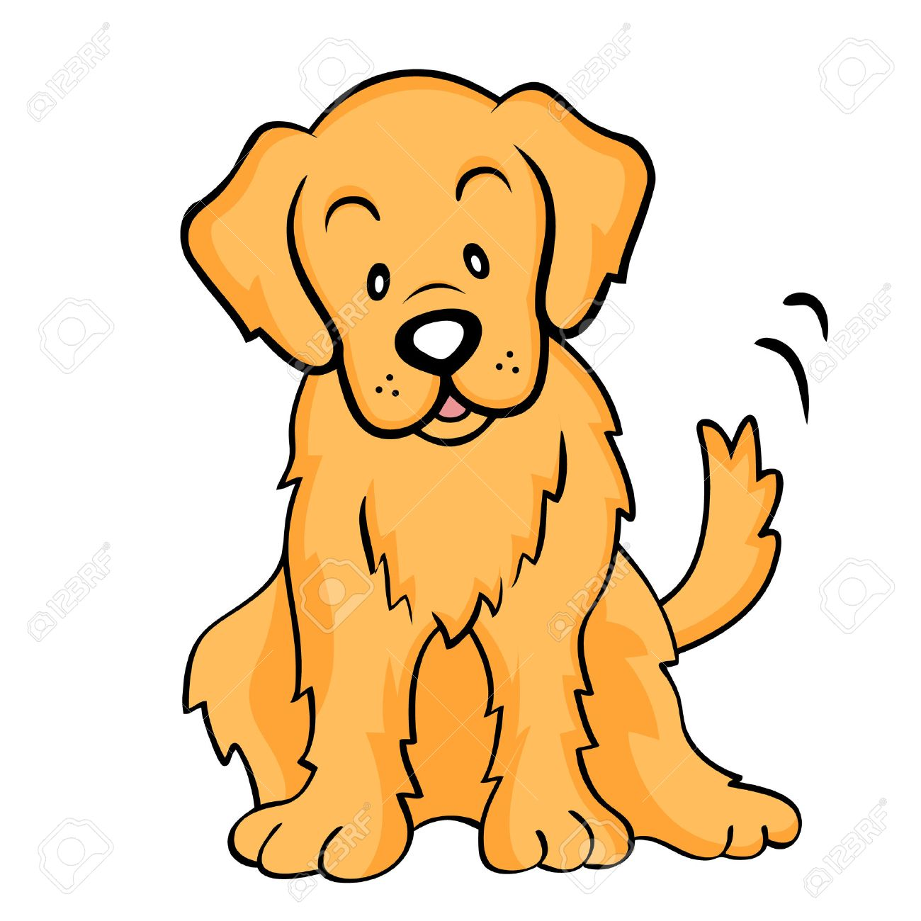1300x1300 Collection Of Cute Golden Retriever Clipart High Quality