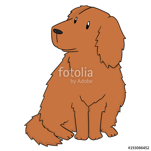 500x500 Vector Of Dog, Golden Retriever Stock Image And Royalty Free