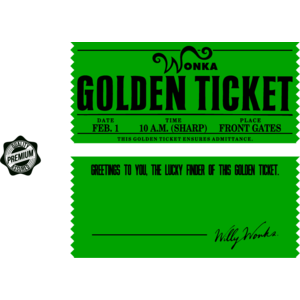 Golden Ticket Vector at GetDrawings com   Free for personal