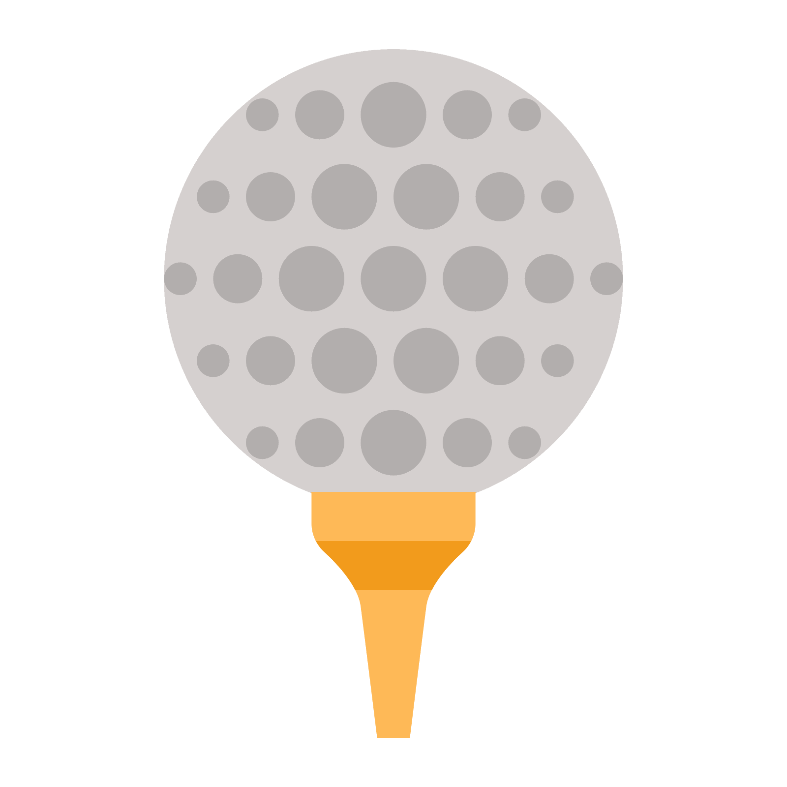 Golf Ball On Tee Vector