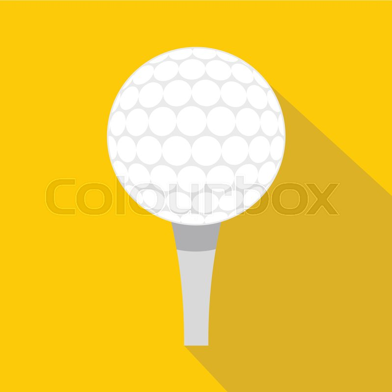 799x800 Golf Ball With Tee Icon. Flat Illustration Of Golf Ball With Tee