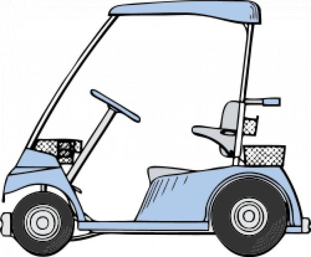 626x518 Golf Cart Vector Free Download