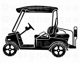 340x270 Golf Cart Svg File Etsy