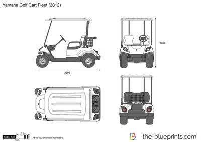 400x283 Yamaha Golf Cart Fleet Vector Drawing