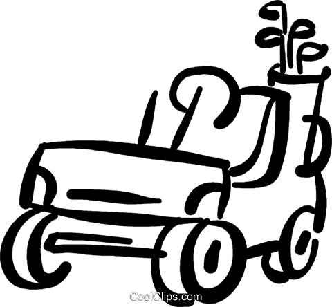 480x444 Golf Cart Royalty Free Vector Clip Art Illustration Vc036944