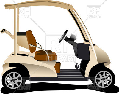 400x317 Electrical Golf Car Vector Image Vector Artwork Of