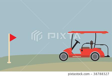 450x304 Flat Design Side View Of Golf Cart Vector