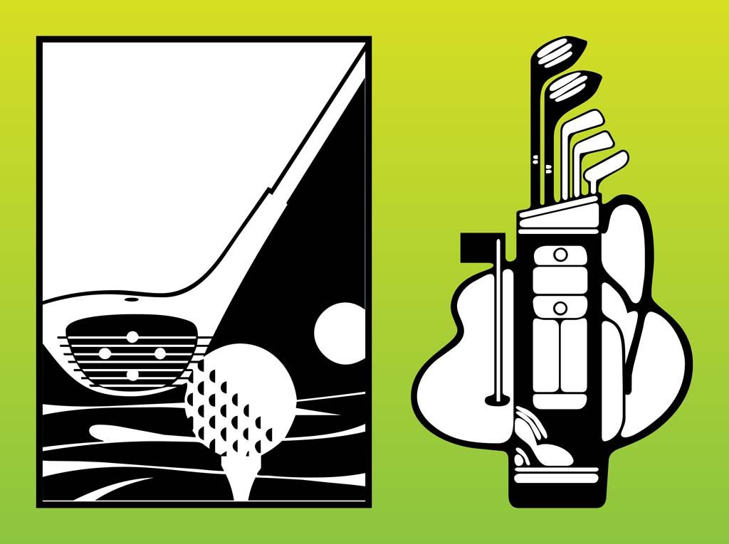 1024x765 Golf Clubs Vector Vector Art Amp Graphics