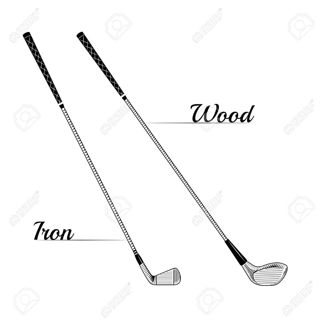 1300x1300 Golf Course Clipart Vector