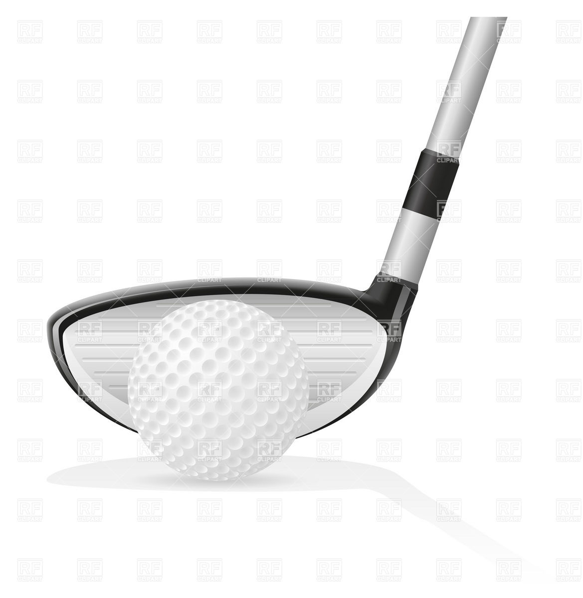 1169x1200 Golf Ball And Iron Golf Club Vector Image Vector Artwork Of