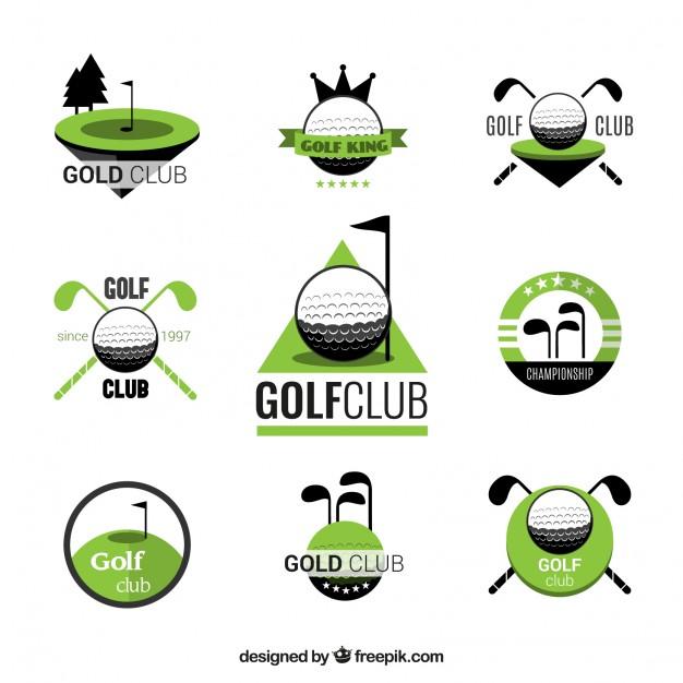 626x626 Golf Club Badges Vector Free Download