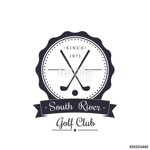 500x500 Golf Club Vintage Logo, Emblem, Vector Illustration, Eps10 Stock