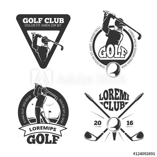 500x500 Vintage Golf Club Vector Labels, Emblems, Badges And Logos