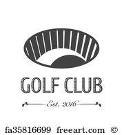 180x195 Free Art Print Of Golf Logo Vector Template. Golf Logo Vector