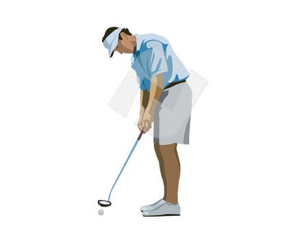 425x356 Golf Clipart Vector