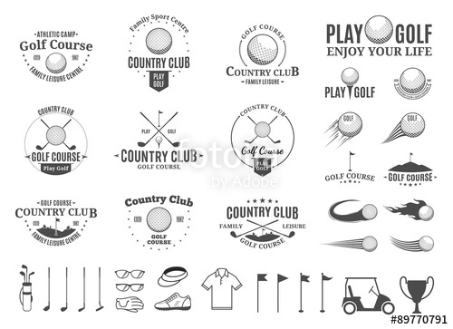 500x363 Golf Country Club Logo, Labels, Icons And Design Elements Stock