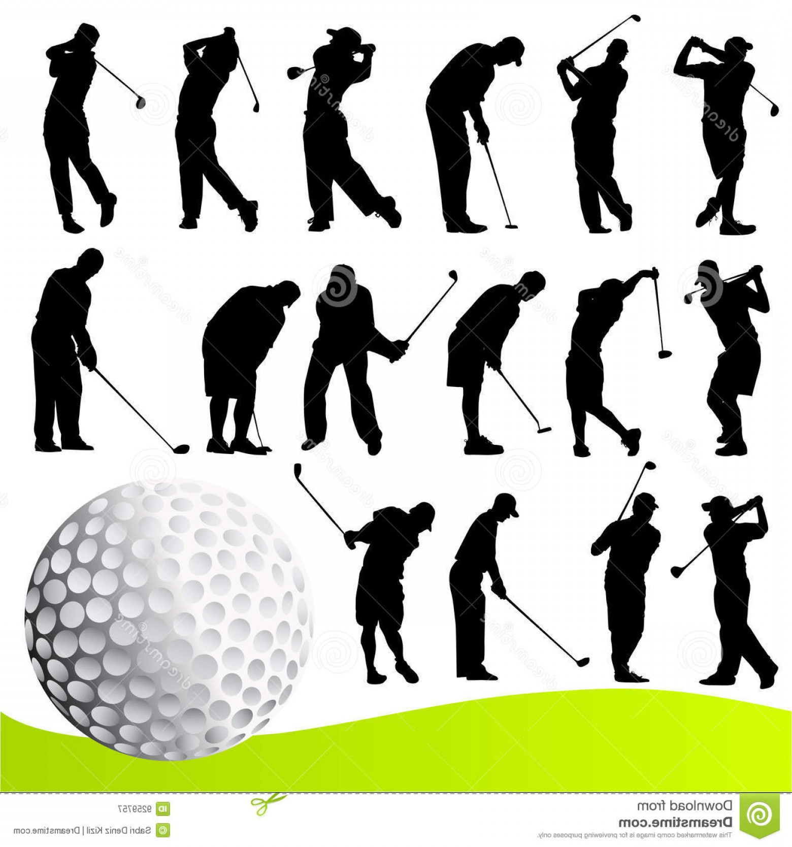 1560x1668 Royalty Free Stock Photography Golf Player Vector Image Lazttweet