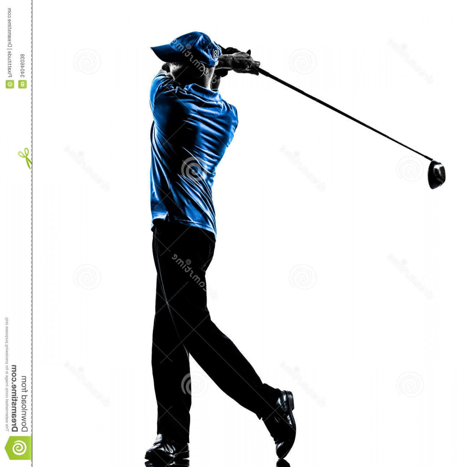 1549x1560 Royalty Free Stock Photos Man Golfer Golfing Golf Swing Silhouette