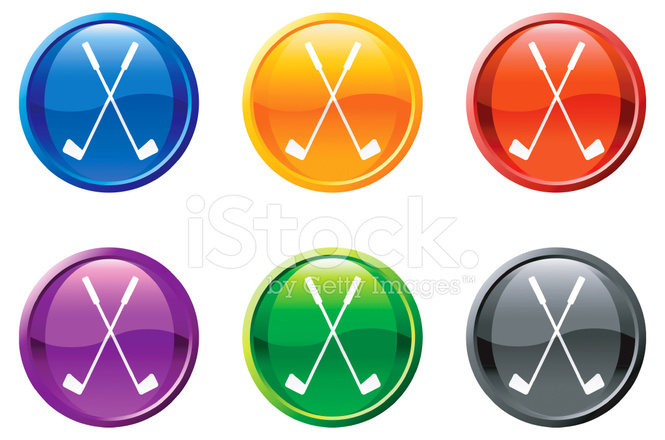 665x440 Royalty Free Vector Golf Vector Icon Set Round Buttons Stock