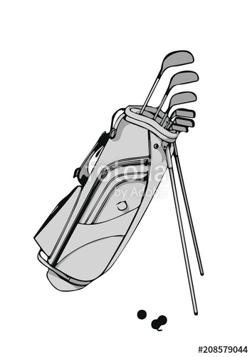 354x500 Sketch Set Of Golf Vector Stock Image And Royalty Free Vector