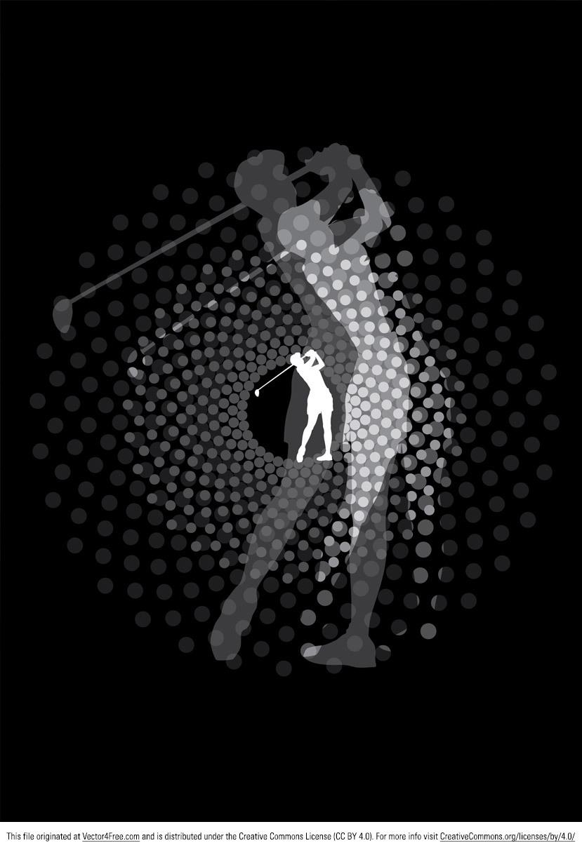 829x1212 Free Golfer Vector Silhouette