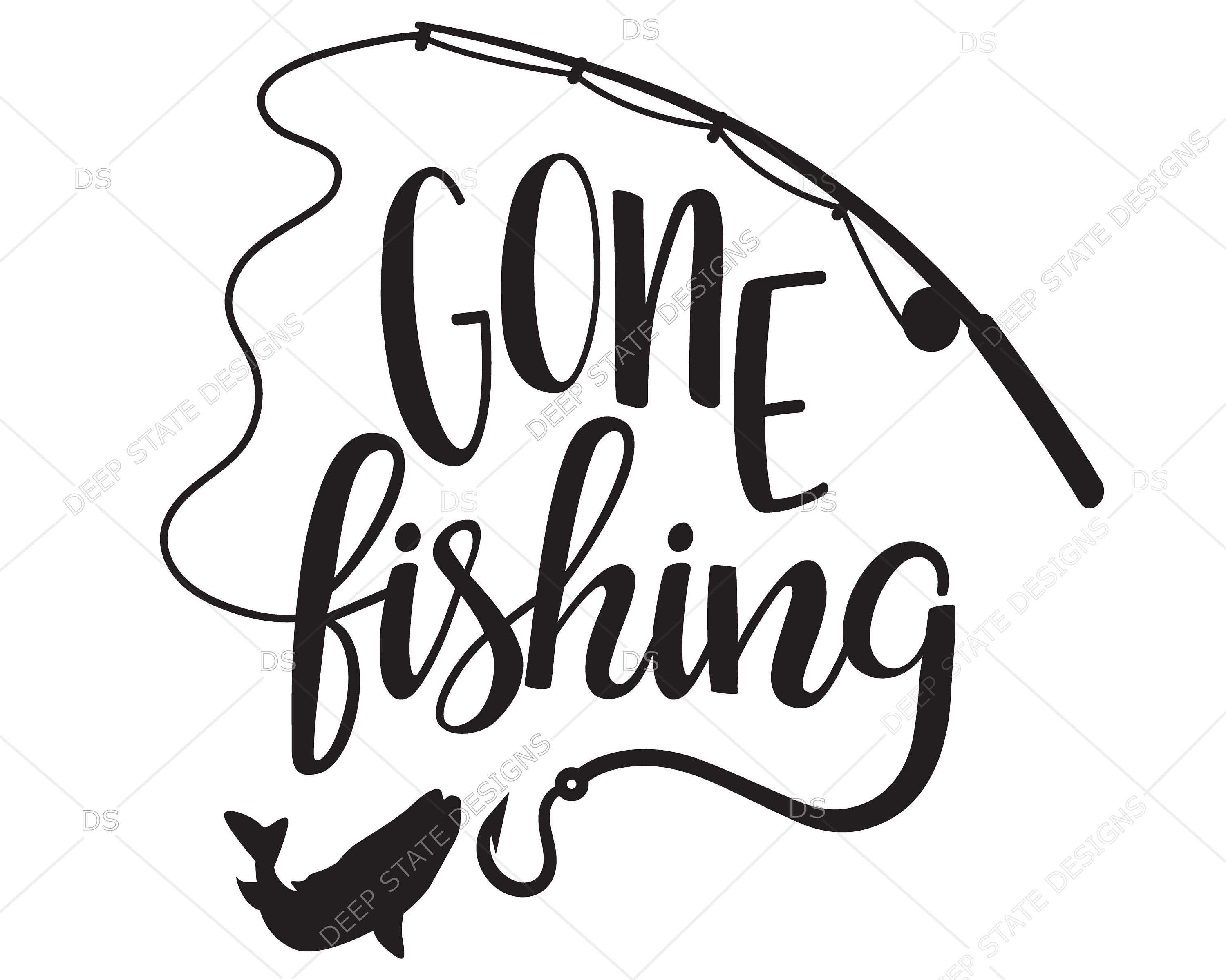 3000x2400 Gone Fishing Svg Fishing Svg Fishing Cilpart Vector For Etsy