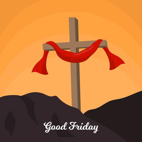 490x490 Flat Good Friday Vector Background