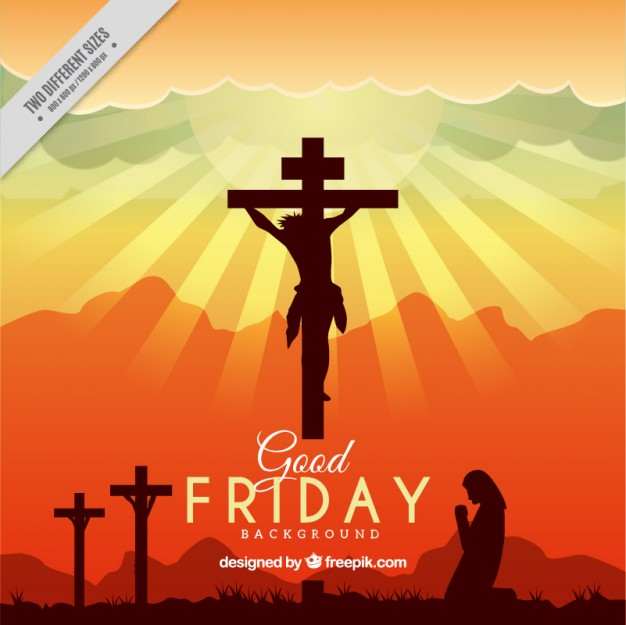 626x625 Good Friday Silhouettes Sunset Background Vector Premium Download