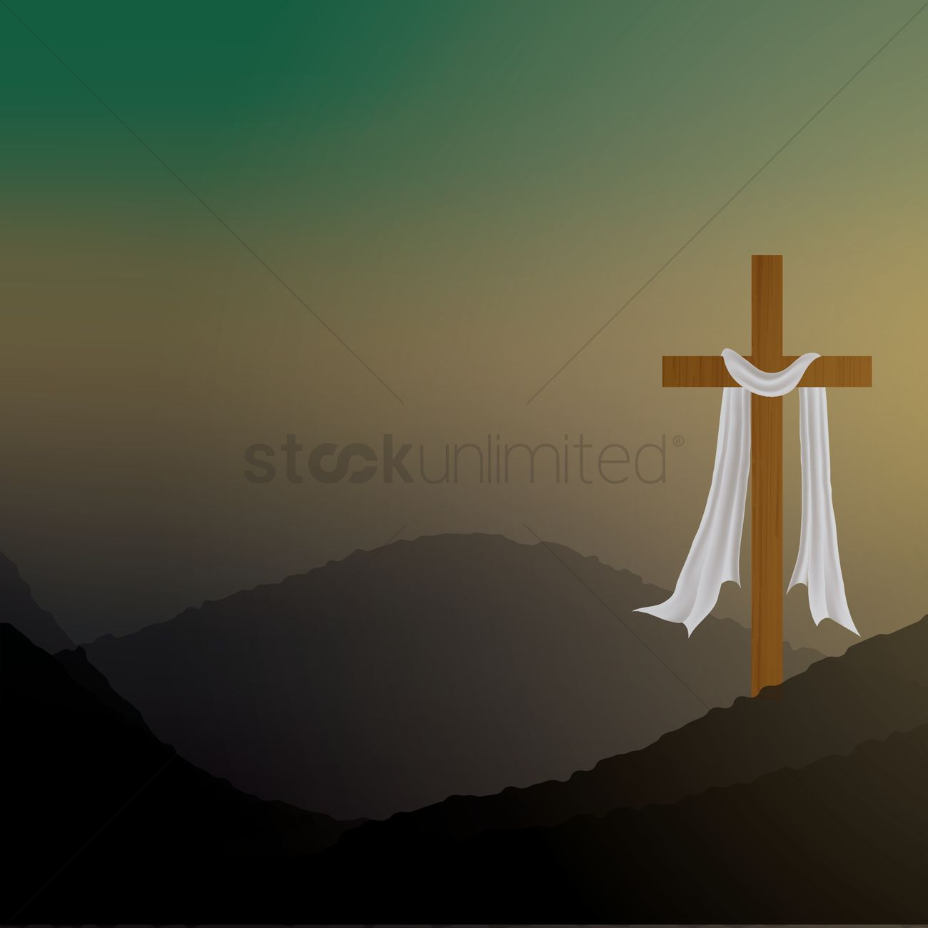 1300x1300 Good Friday Background Vector Image
