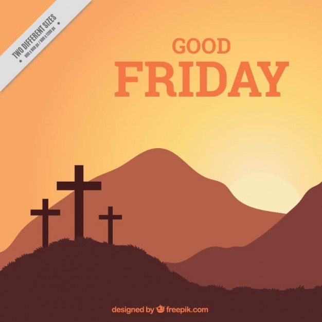 626x626 Good Friday Crosses And Landscape Background Vector Free Download