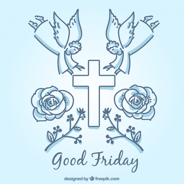 626x626 Symbolic Elements Of Good Friday Background Vector Free Download