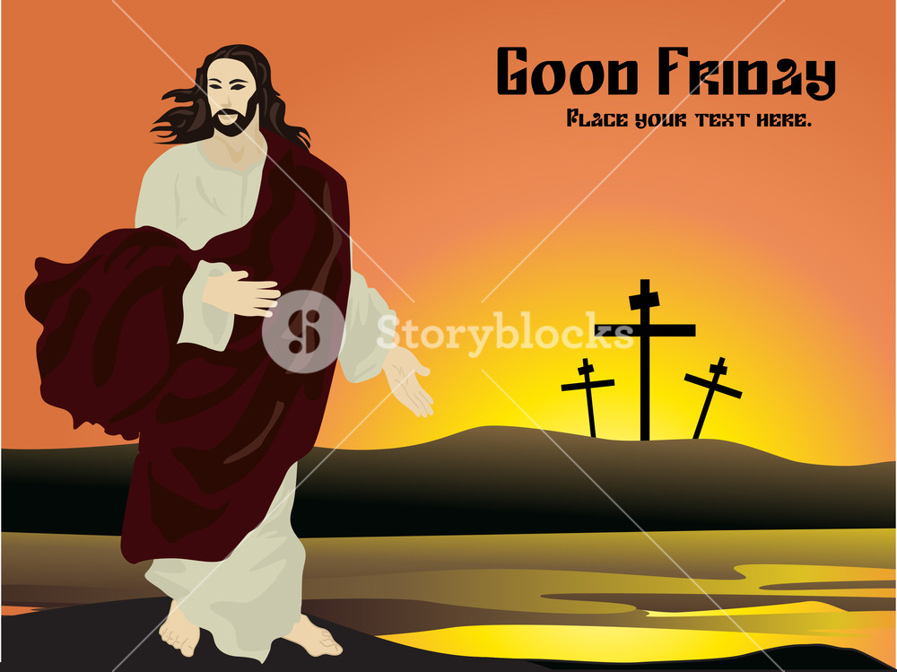 1000x749 Vector Good Friday Card Royalty Free Stock Image