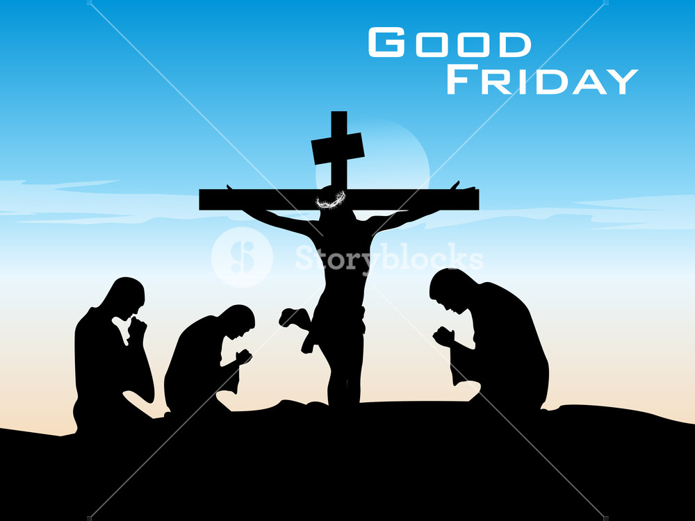1000x750 Vector Good Friday Illustration Royalty Free Stock Image